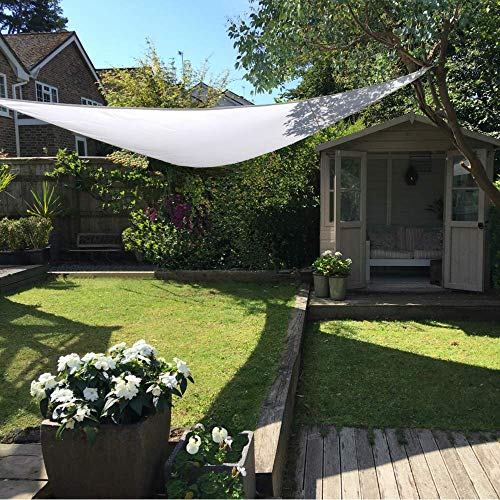 Clara Sun Shade Sail Garden White Waterproof UV Sun Protective Screen Shelter Awning Gazebo Canopy Pergola Patio Outdoor Indoor (Triangle 3.6m)