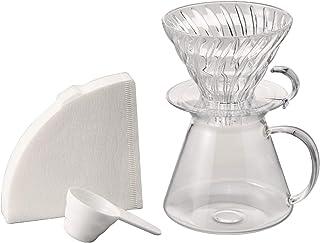 HARIO(ハリオ) V60 ガラスブリューイングキット Glass Brewing Kit 実用容量600ml サーバー 1~4杯用 透明 日本製 S-VGBK-02-T