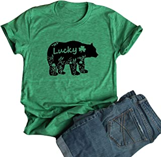 df261a0243755 Women s Floral Mama Bear Print Crew Neck Short Sleeve T Shirts for Mom  Mother s Gift