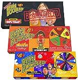 Jelly Belly Bean Boozled Set Glücksrad + Flaming Five scharfeEdition und Extreme Special Edition 2x 100g und 1x 125g