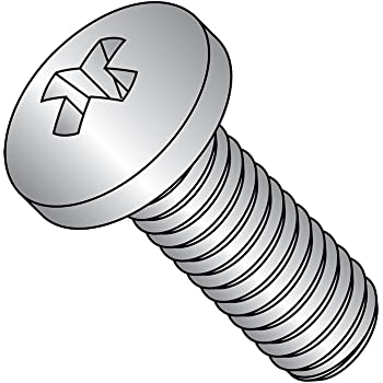 #3 Phillips Drive Pack of 10 7//16 Length Fully Threaded Passivated 1//4-20 Thread Size 300 Series Stainless Steel Pan Head Machine Screw 1//4-20 Thread Size 7//16 Length Small Parts MS51957-78 USA Made Meets MS-51957