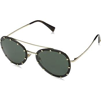 Valentino 0VA2016 Gunmetal//Mirror Blue//Silver Lens Sunglasses