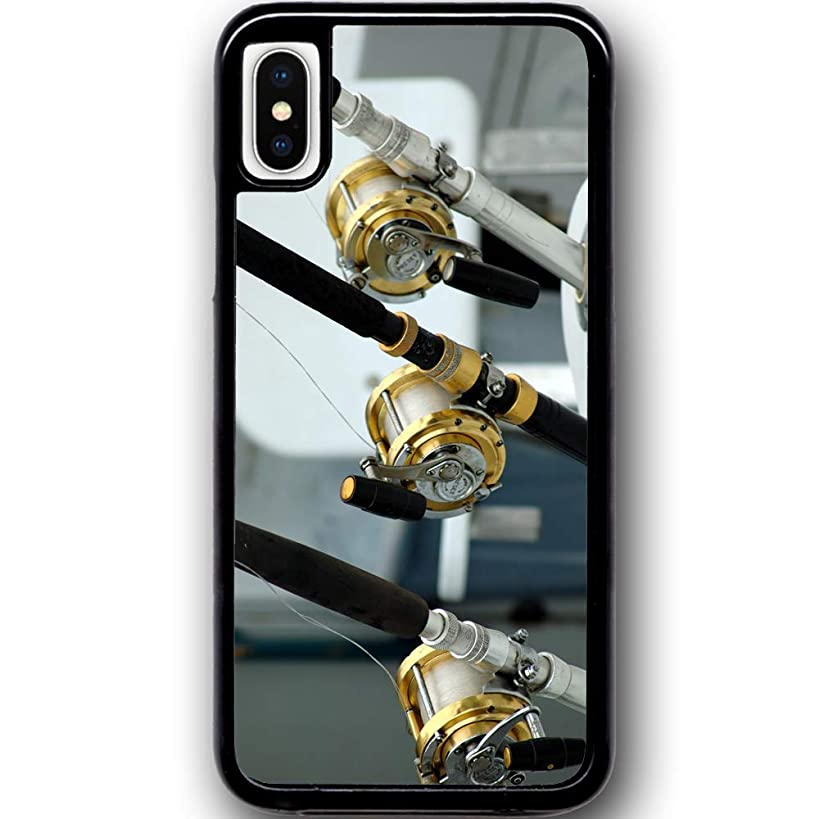 Deal Market LLC - Fishing Bass Lure Hook Sports Outdoor Hard Rubber Phone Case for Apple iPhone XR. Made and Shipped from USA