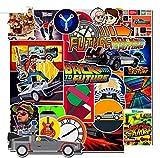 ELIKVAP Autocollant (45pcs) Stickers pour pc Ordinateur Portable, Moto, vélo, Voiture Valise de Voyage, Stickers Bomb thème Film Retour vers Le Futur