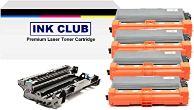 InkClub 4PK Compatible 3 TN750 & 1 DR720 Toner Drum Cartridge Combo Set, Replacement Use for Brother DCP-8110,8150,8155, HL-6180,5400,5440,5450,5470,5470,6180, MFC-8510,8710,8910,8950,8950 Series