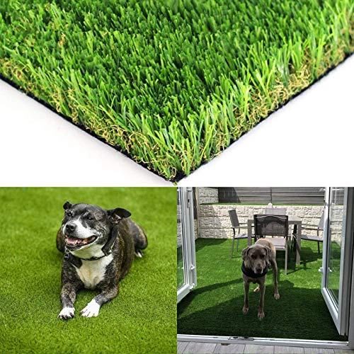 Realistic Artificial Grass Turf - 6FTX8FT(48 Square FT) Indoor Outdoor Garden Lawn Landscape Synthetic Grass Mat