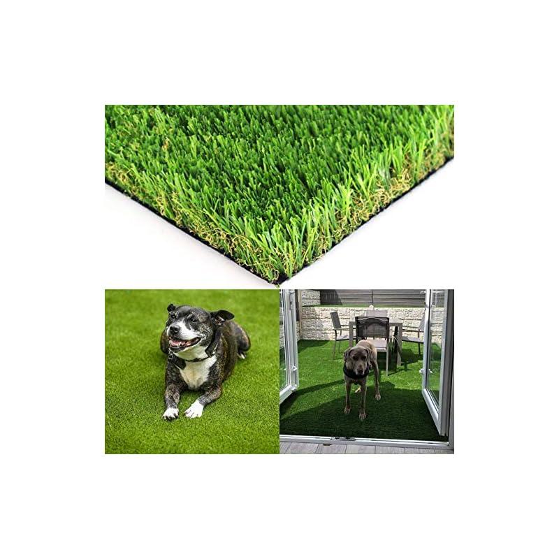 silk flower arrangements realistic artificial grass turf - 5ftx21ft(105 square ft) indoor outdoor garden lawn landscape synthetic grass mat