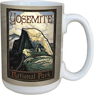 TreeFree Greetings 79476 Yosemite National Park Half Dome by Paul A. Lanquist Ceramic Mug with Full-Sized Handle, 15-Ounce, Multicolored