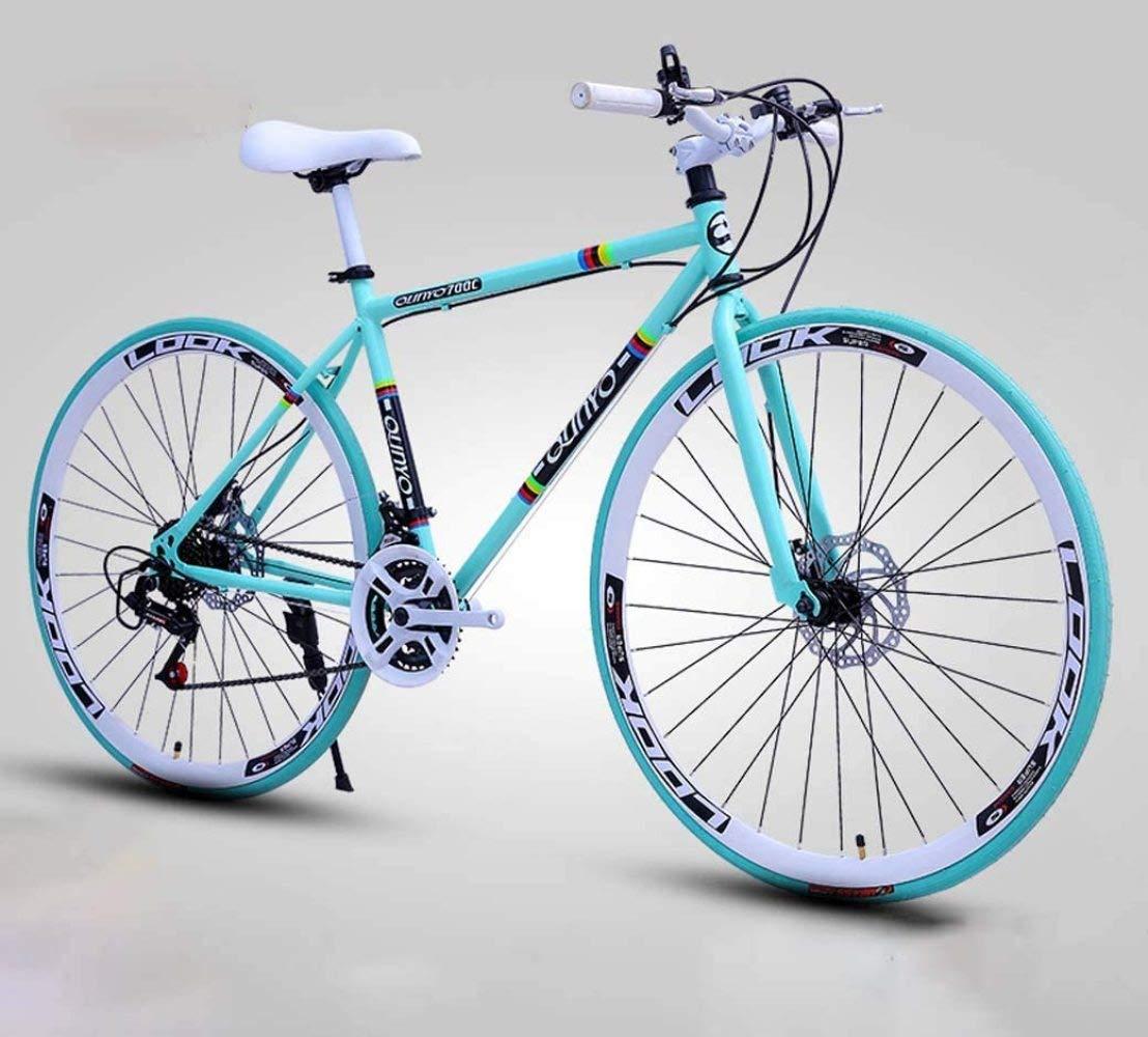 WMWJDQ Bicicletas Carretera, de 24 velocidades de 26 Pulgadas, Bicicletas de Doble Disco de Freno, Marco