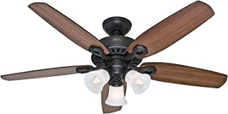 Hunter 53238 Builder Plus 52-Inch Ceiling Fan - Mahogany/Brazilian Cherry Blades