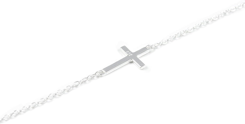 Collar Plata con cruz horizontal