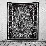 DYHF Meditación India Tapiz Yoga Estudio Sala de Estudio Decoraciones internas Paz Corbata Tinte Hippie psicodélico pequeño Tapiz Cartel tapices meditando Paz Arte Arte c A-130x150cm