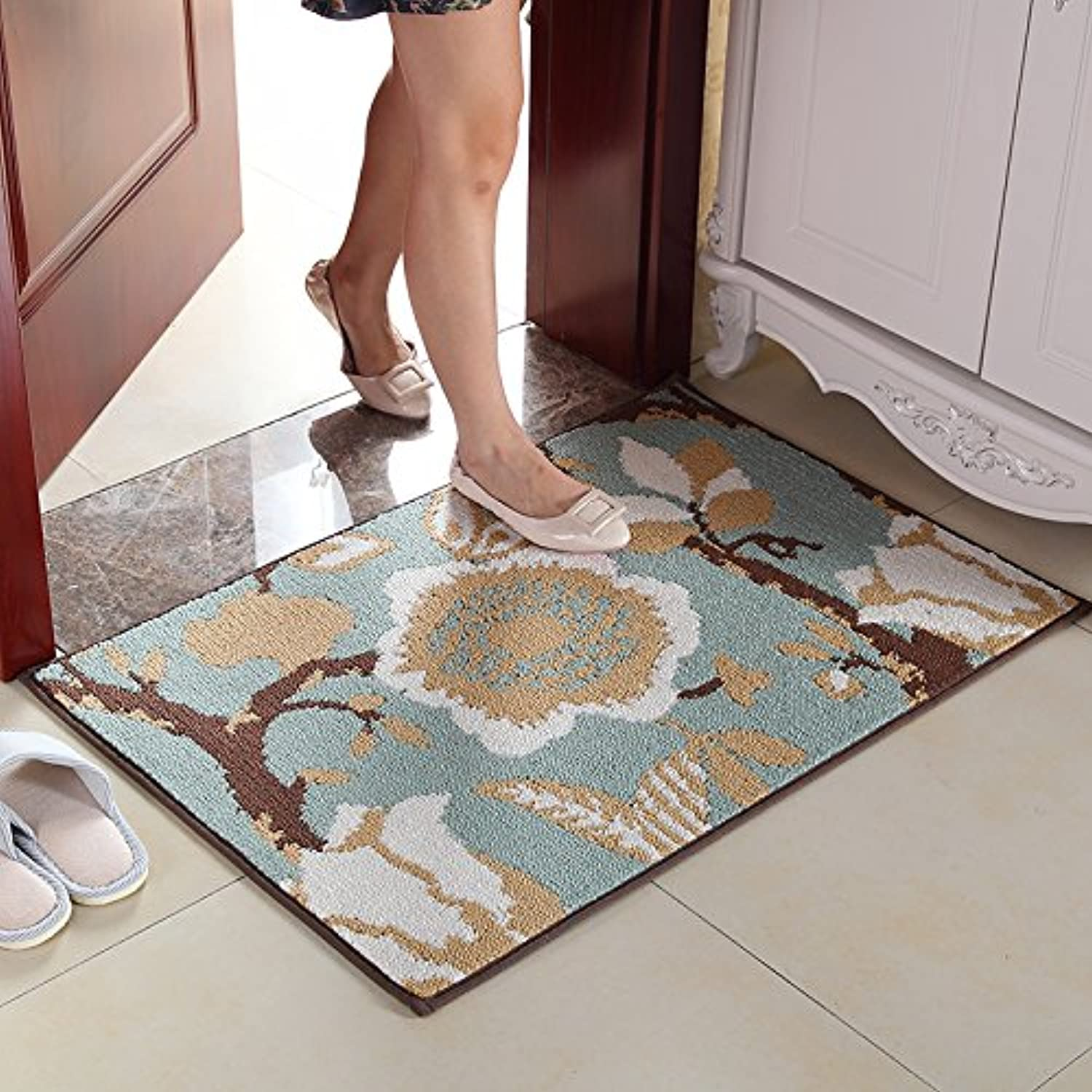 JinYiDian'Shop-Continental Mats Door Mat The Carpet Of The Bedrooms Kitchen Suction Feet ,4570Cm,7280-2