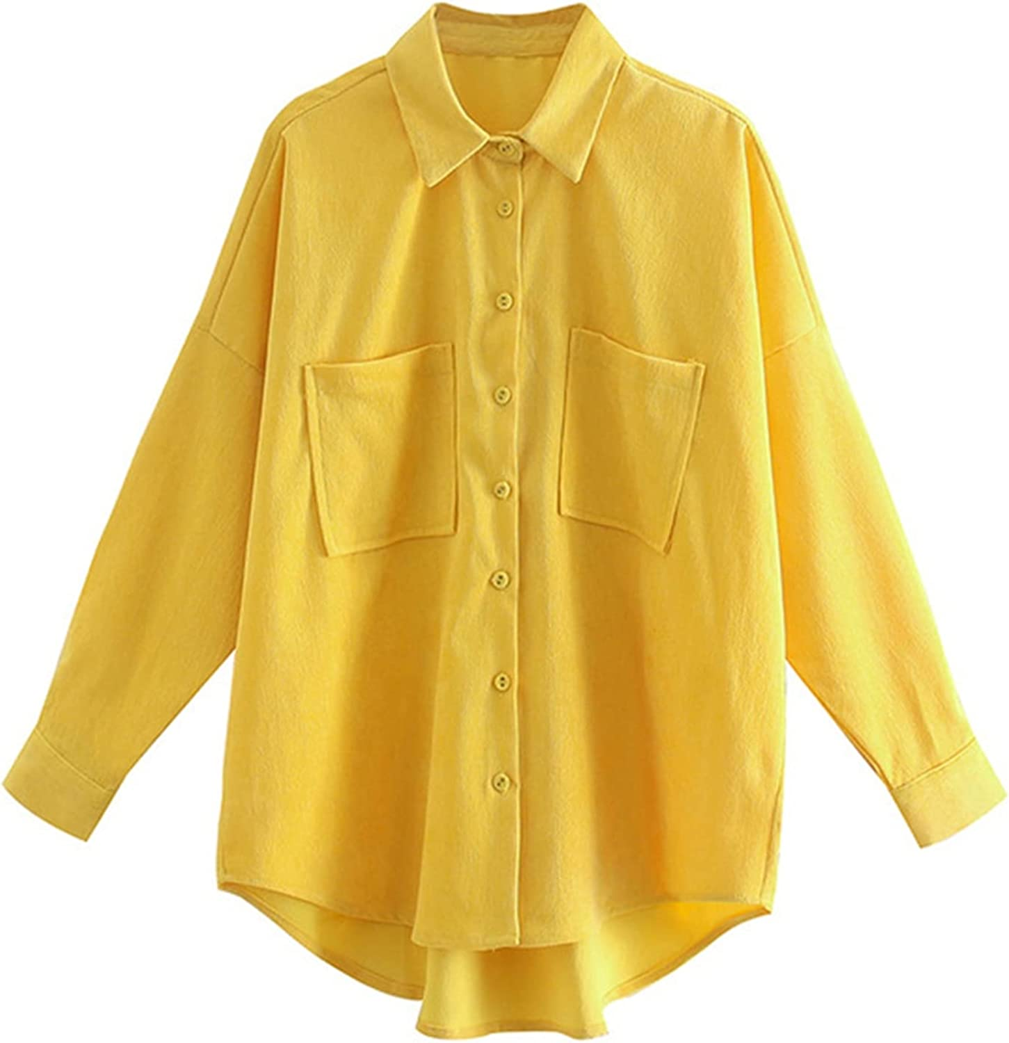 XLEE Women Blouse At the price of surprise Corduroy Anti-Pilling Formal Button Down Popular overseas Soft