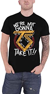 Twisted Sister T Shirt were Not Gonna Take It Band Logo Official Mens Black