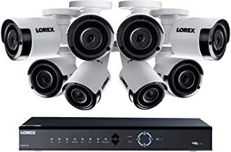 Lorex LNK71082T85B 8-Channel 4K 2TB PoE NVR with 8 5-Megapixel Color Night Vision Indoor/Outdoor Security Cameras