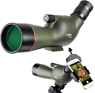 Gosky HD 16-48X62 Spotting Scope - Waterproof Scope for Target Shooting Bird Watching Animal Watching Hunting Archery Outdoor Activities with Tripod and Phone Adapter