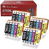 Toner Kingdom 20 Pack 570XL 571XL Cartuchos de Tinta Compatible para...