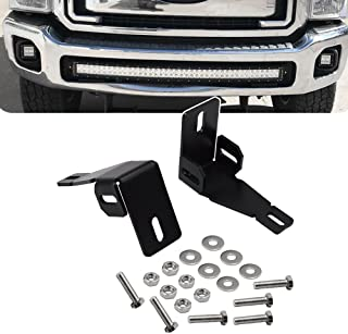 Front Hidden Bumper Fog Light Mounting Brackets For 3 inch LED Light Cube Fit 1999-2016 Ford F250 F350 F450 Super Duty & 2000-2005 Ford Excursion