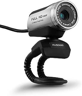 AUSDOM ウェブカメラ ウェブカムweb カメラ FullHD 1080P画質 Webカム ライブカメラ PCカメラ マイク内蔵 200万画素 360度回転可能 明るさ自動調整 ネットワークカメラ ウェブ会議 ビデオ会話 ビデオチャット skype Facebook YouTube ライブ配信用 AW615