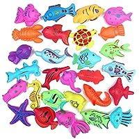 1pc 子供 磁気浮遊魚 釣りおもちゃ 6-9 CMトレイン プラスチック製 ランダム発送