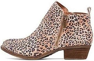 DecoStain Women's Concise Block Heel Zipper Chelsea Ankle Boot Office Dress Booties