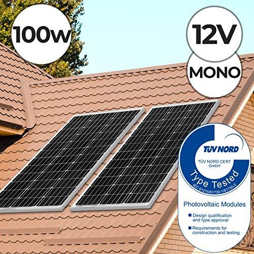 Monokristallin Photovoltaik Solarmodul - 50 100 130 150 165 W, inkl. MC4 Ladekabel, 17 18 V für 12 v Batterien, Setwahl - Solarpanel, Solarzelle, Solarladegerät, Solaranlage (4 x 100W (400W))