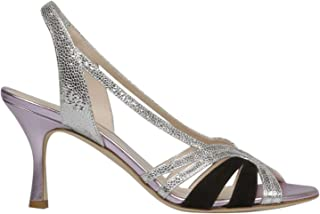 GIA COUTURE Women's DIAMANTEA615SILVE Multicolor Leather Heels