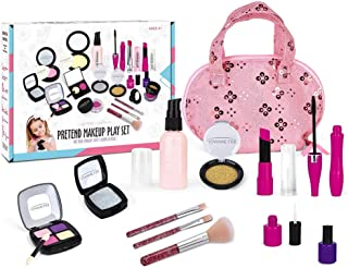 Kids Makeup Kit for Girls, 12 Pcs Pretend Play Makeup Toy Beauty Set - with Cosmetic Bag, Best Gift for Little Girls Age ...