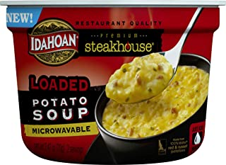 Idahoan Steakhouse Loaded Potato Soup, Made with Gluten-Free 100-Percent Real Idaho Potatoes, 2.4 oz Bowl (Pack of 6)