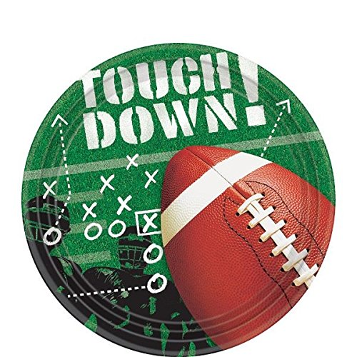 American Greetings Football Party Supplies, Paper Dessert Plates (50-Count)