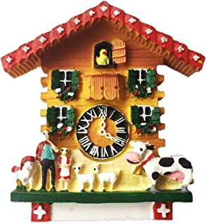 Refrigerator Magnets Resin 3D Funny Cow Cuckoo Clock Switzerland City Tourist Souvenirs Fridge Stickers Magnetic Fridge Magnet for Whiteboard Home Kitchen Decoration Accessories Gifts