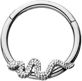 snake septum ring