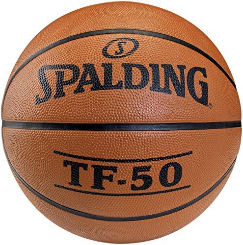 Spalding - Pallone da Basket TF50 out, Misura 6 (73-851Z), Non colorato, Arancione (NOCOLOR), 3