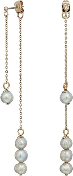 LAUREN Ralph Lauren - Front Over Back Fresh Water Pearl Threader Earrings