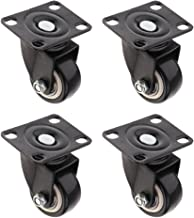 Homyl Swivel CASTORS 4PC 40mm Wheel Ball Bearings Furniture Trolley Castor Black