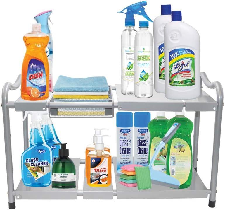 2 High quality Tier Under Sink Storage Surprise price Cabinet Organizer Adjustable P