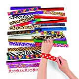 Fun Express Metal Slap Bracelet Assortment (50 pc)