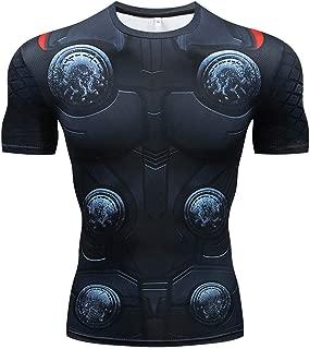 Men's Super-Hero Compression Sports Fitness Elastic T-Shirt Quick-Drying Running