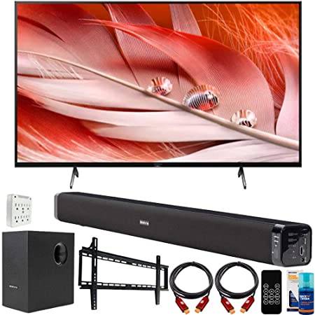 Sony XR50X90J 50-inch X90J 4K Ultra HD Full Array LED Smart TV (2021 Model) Bundle with Deco Gear Home Theater Soundbar with Subwoofer, Wall Mount Accessory Kit, 6FT 4K HDMI 2.0 Cables and More