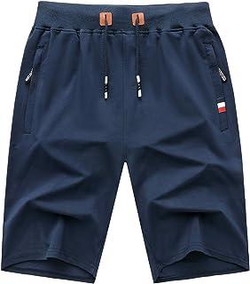 GEEK LIGHTING Mens Shorts Casual Comfortable Workout Shorts Drawstring Zipper Pockets Elastic Waist…