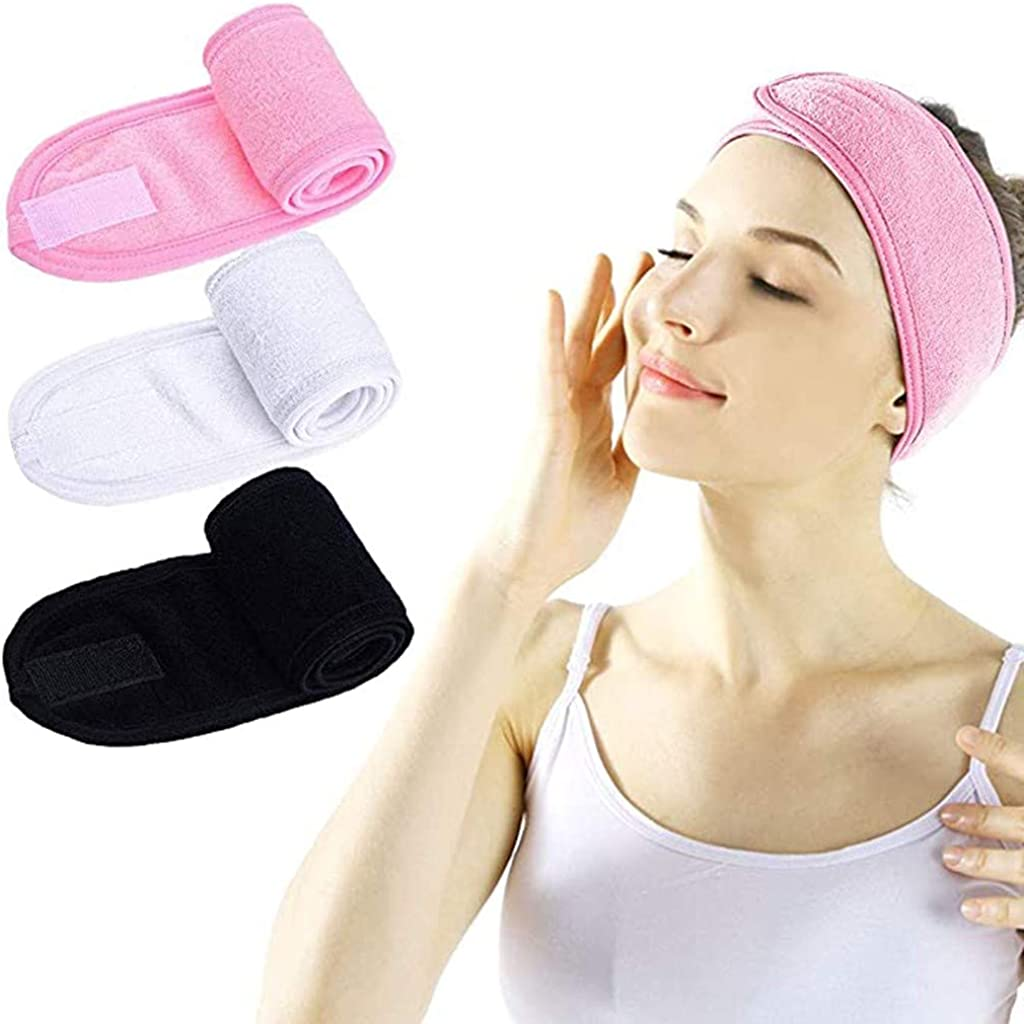 Winnerlink Washing Face Headband for Women Men - Adjustable Facial Hydrotherapy Headscarf Wide Hairband Non Slip Hairlace Turban for Shower Spa Mask Makeup Headwrap
