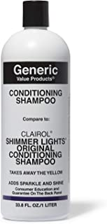 Generic Value Products Conditioning Shampoo - Compare to Clairol Shimmer Lights, 33.8oz