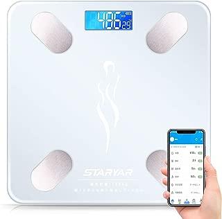 体重計 体脂肪計 体組成計スマホ連動 体重/体脂肪率/体水分率/推定骨量/基礎代謝量/内臓脂肪レベル/BMIなど簡単測定可能 Bluetooth対応 iOS/Androidアプリで健康管理まで 日本語取扱説明書 (ホワイト)