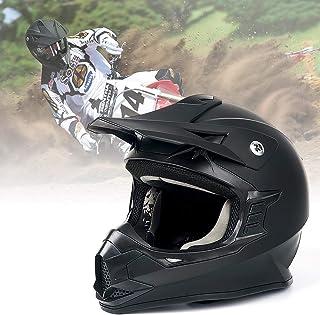Unisex-Adult Off-Road Helmet, Orthrus Motocross ATV Dirt Bike Helmet for Men Women, DOT Approved (Matte Black, L)