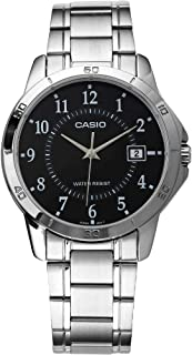 Casio Watch For Men Quartz , Analog Display and Stainless Steel Strap MTP-V004D-1B