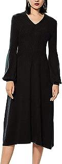 VenuStar Sweater Dress Women's Casual Dress Cashmere Winter Spring Maxi Long Dress