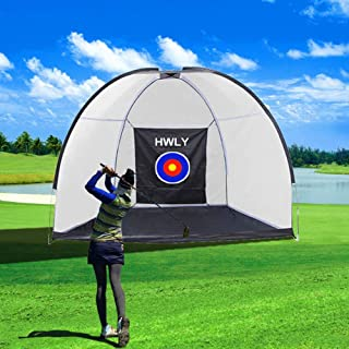 Sponsored Ad – HWLY Golf Hitting Net Driving Range Golf Practice Nets for Backyard Indoor Use with Target Carry Bag