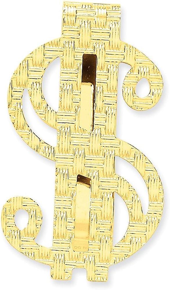 14k Polished Dollar Sign Money Clip