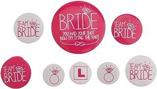 P Prettyia 8stk. Rosa/Rose Braut Abzeichen Bride Button Team Braut Anstecker Kleidung Brosche, Hen Party und Verlobungsfeier Accessoires